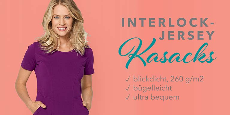 Berufsbekleidung - Interlock-Jersey Kasacks